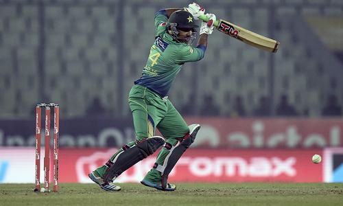Sarfraz Ahmed scored 38 for Pakistan while opener Sharjeel Khan made 31. — AFP