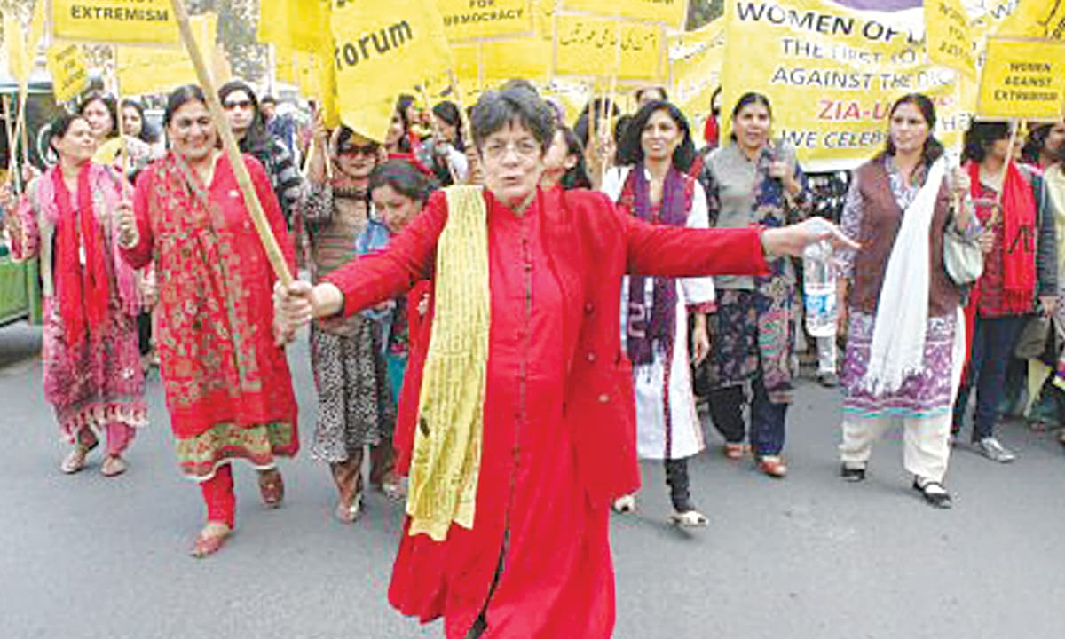A rally organised by the Women's Action Forum in 2013 in celebration of the February 12, 1983 demonstration against  Ziaul Haq | Courtesy Nighat Said Khan