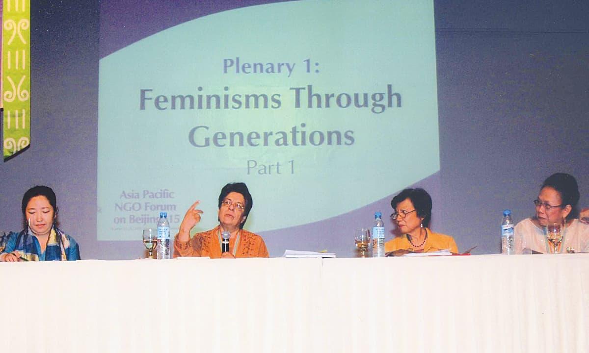 Nighat Said Khan speaks at the Asia Pacfic NGO Forum in 2009