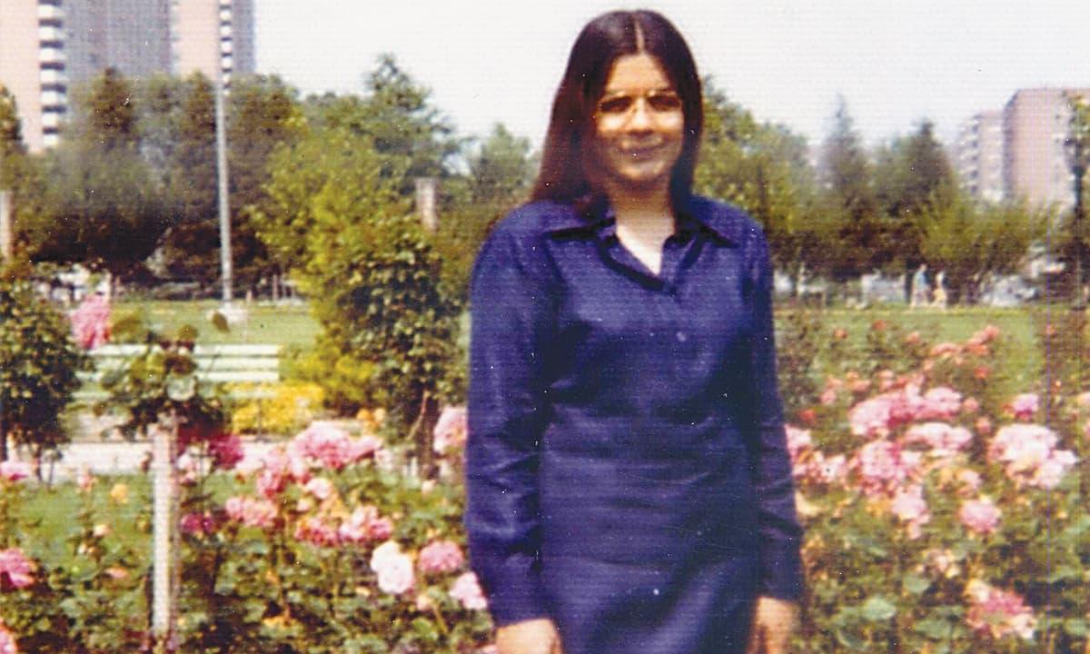 Nighat Said Khan while studying at Columbia University, 1965