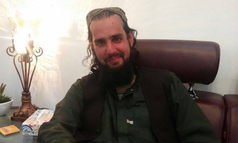 This photo released by the ISPR on Tuesday shows Shahbaz Taseer after his recovery in Balochistan. —ISPR