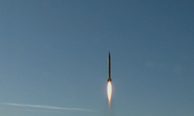 A ballistic missile is launched and tested in an undisclosed location in Iran. ─ Reuters