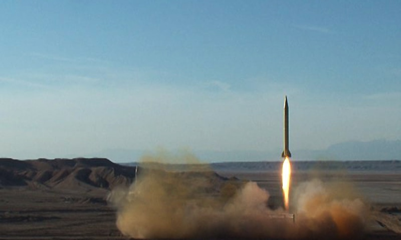 A ballistic missile is launched and tested in an undisclosed location, Iran, on March 8, 2016. ─ Reuters