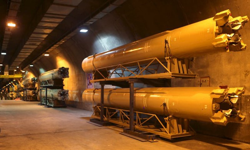 A view of an underground depot where missiles are launched, in an undisclosed location, Iran. ─ Reuters