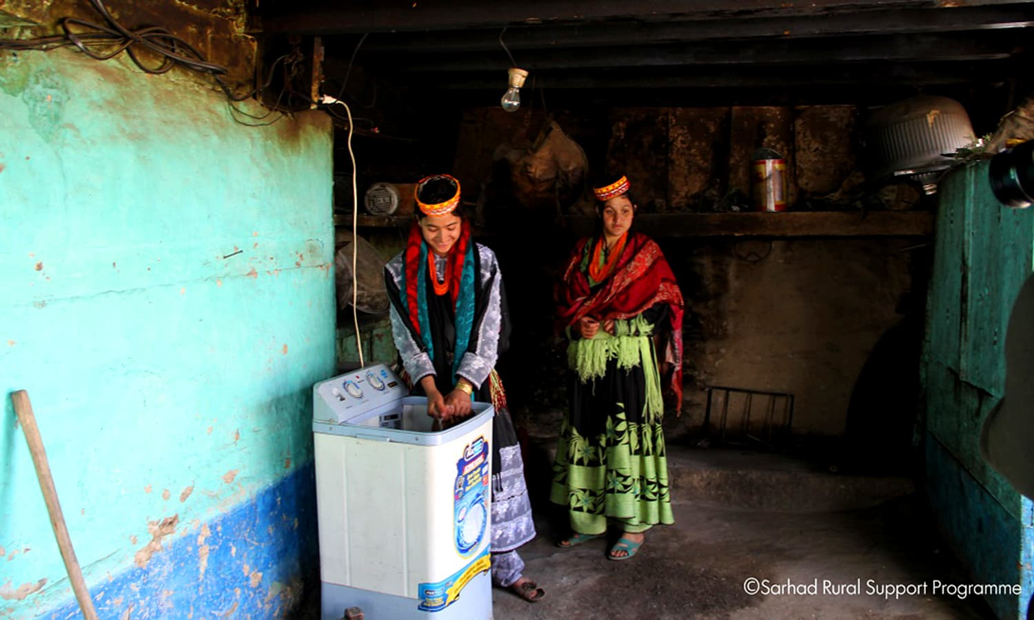 Micro hydropower plants have made the use of washing machines possible. ─ Photo by Sarhad Rural Support Programme