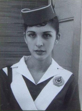 An air-hostess of Pakistan International Airlines (PIA), 1955.