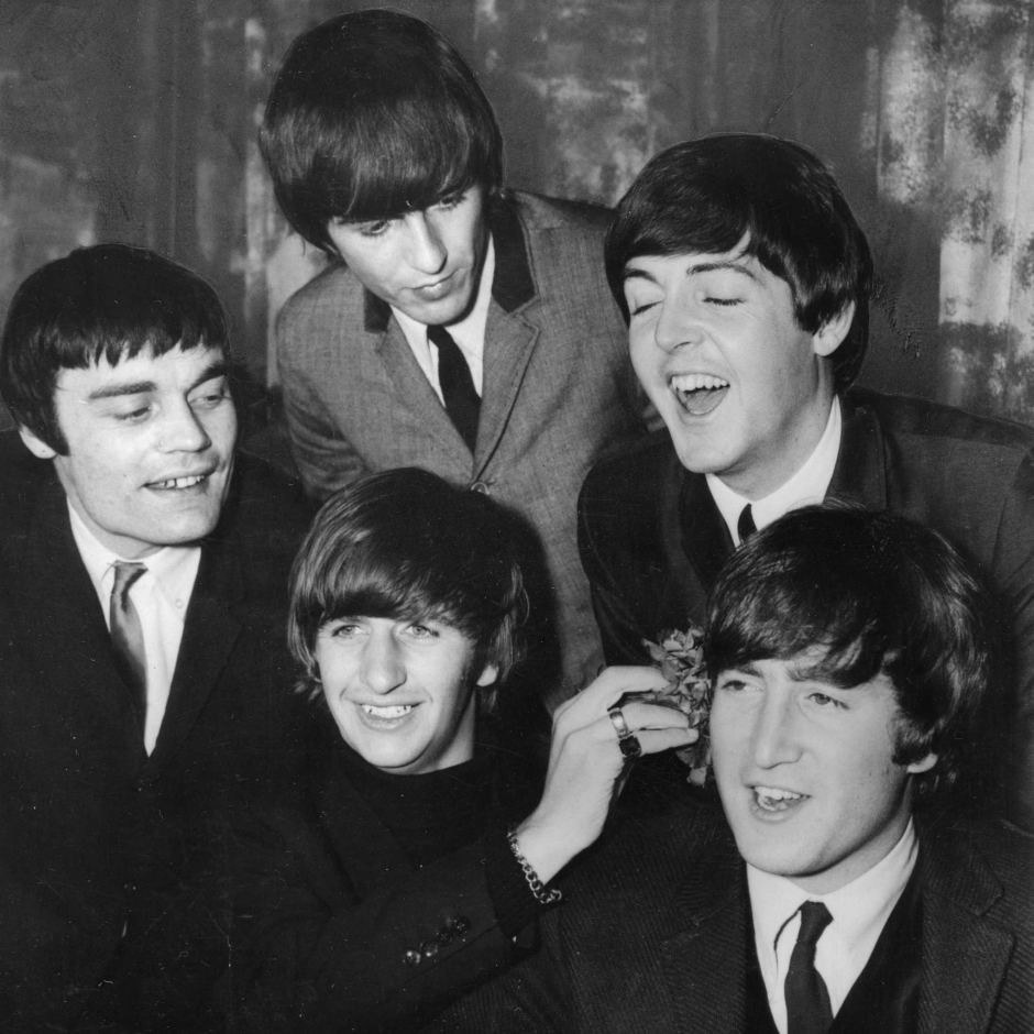 Pop group The Beatles snapped at the bar of the Karachi Airport where they had stopped over to catch a connecting flight.