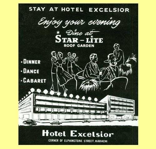 Newspaper ad of a hotel in Karachi (1960).