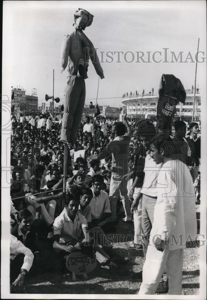 An anti-Ayub demonstration at a university in Dhaka, East Pakistan (1969).