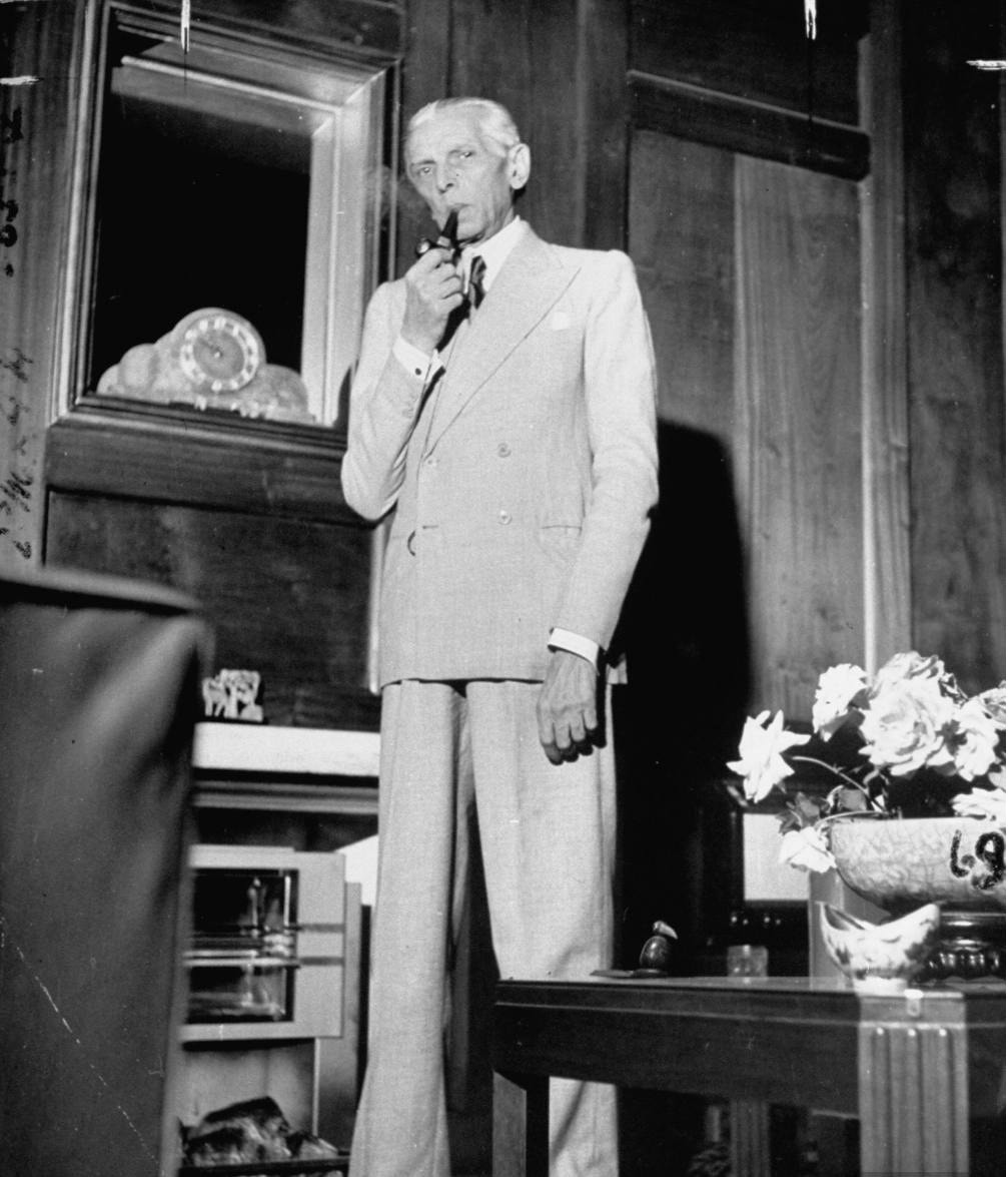 Jinnah relaxing after leading his party to big wins in the 1946 Indian provincial elections. The results of the election paved the way for the creation of Pakistan.