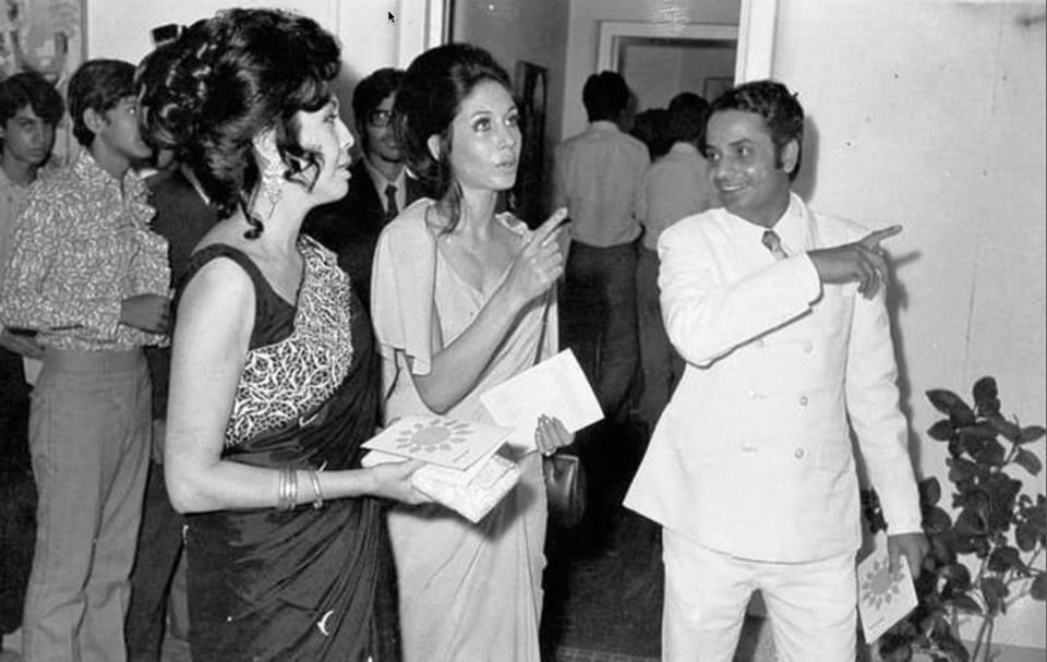 An art exhibition at the Karachi Arts Council, 1975.