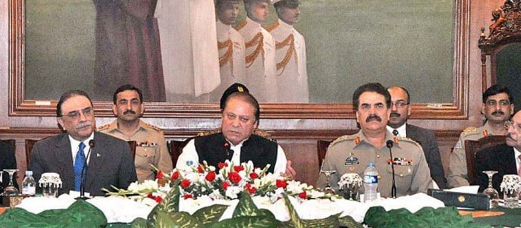 Backed by the military, PM Nawaz brought dozens of political parties together to agree on a consensual plan to rid Pakistan from all strands of militancy and extremism.