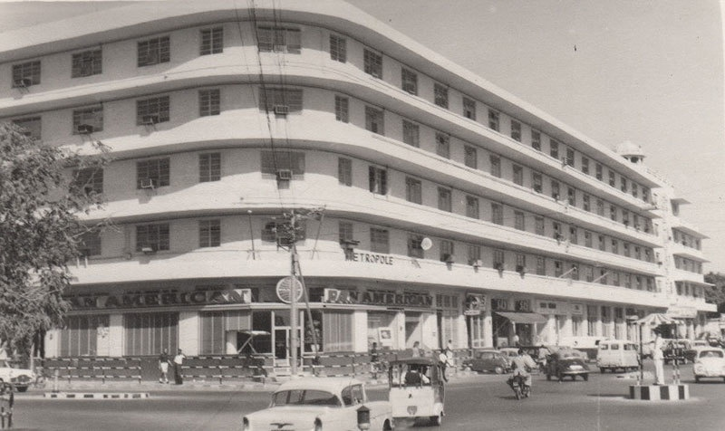 Karachi's Hotel Metropole in 1957: It was famous for its luxurious rooms, large 'dance hall,' bars and restaurants.