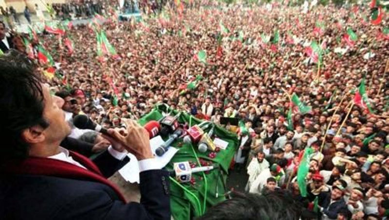 Imran Khan's PTI emerged as a new populist challenge to the PML-N regime.