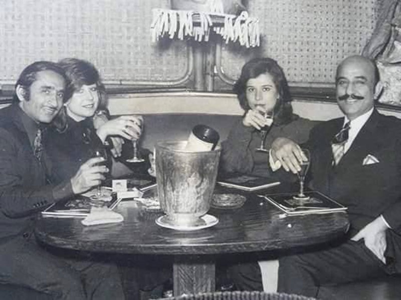 At a New Year's party at Karachi's Beach Luxury Hotel, 1967.