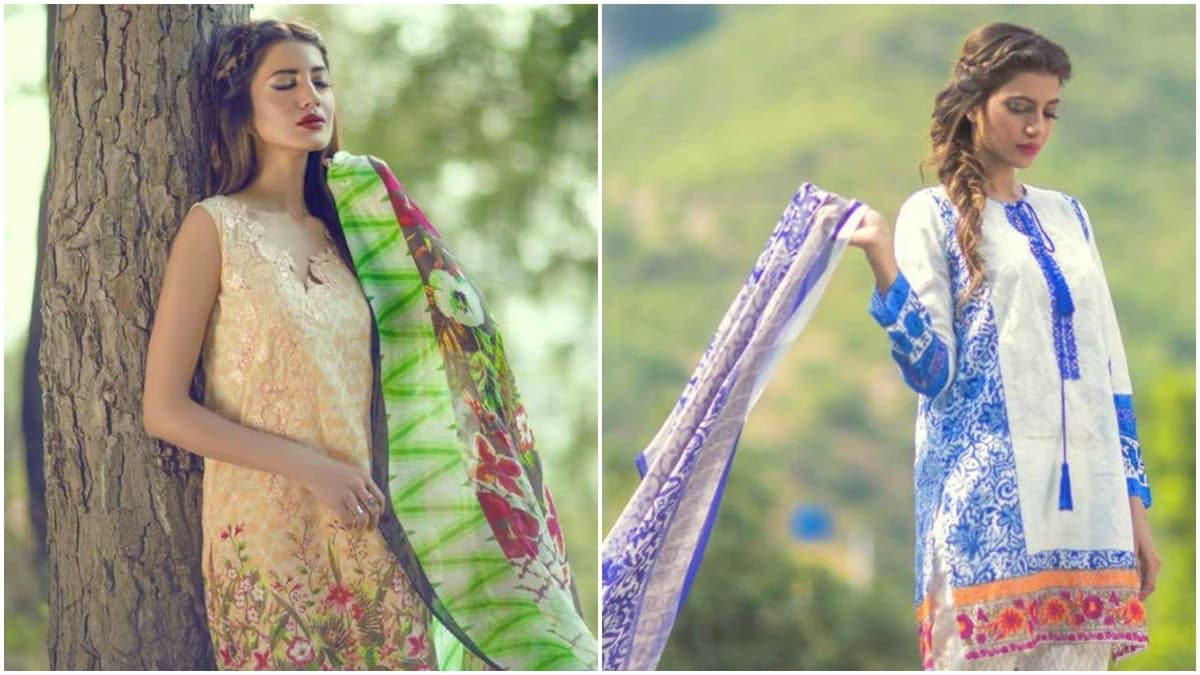 The shoot for Mina Hasan lawn for Shariq Textile took place in the Margalla Hills and Saidpur village in July last year - Photos courtesy Shariq Textile's Facebook page