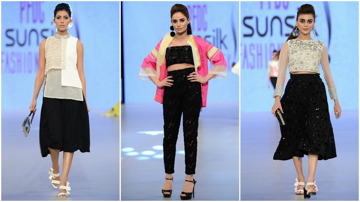 Khaadi Khaas' asymmetrical tops, crop tops and ankle-high pants totally worked
