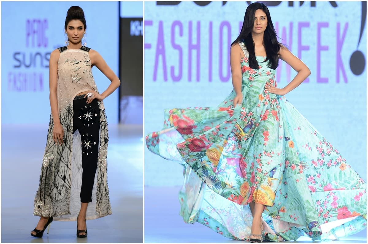 Amna Ilyas (left) was the showstopper of 'Translucent', a collection that marks the emergence of Khaadi Khaas as a contender in the luxury pret market