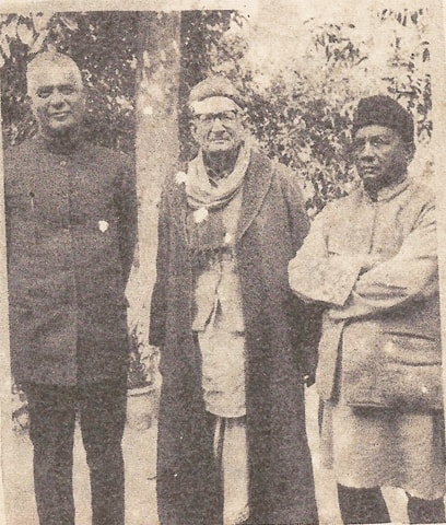 From L to R: Shorish Kashmiri, Ghulam Rasool Mehr and Ehsan Danish.—Courtesy Jaam-i-nau
