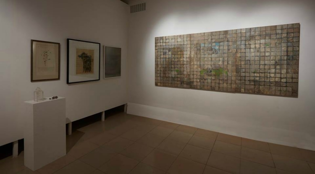 Installation view of works by artist Zahoor Ul Akhlaq - Photo courtesy Dhaka Art Summit's Facebook page