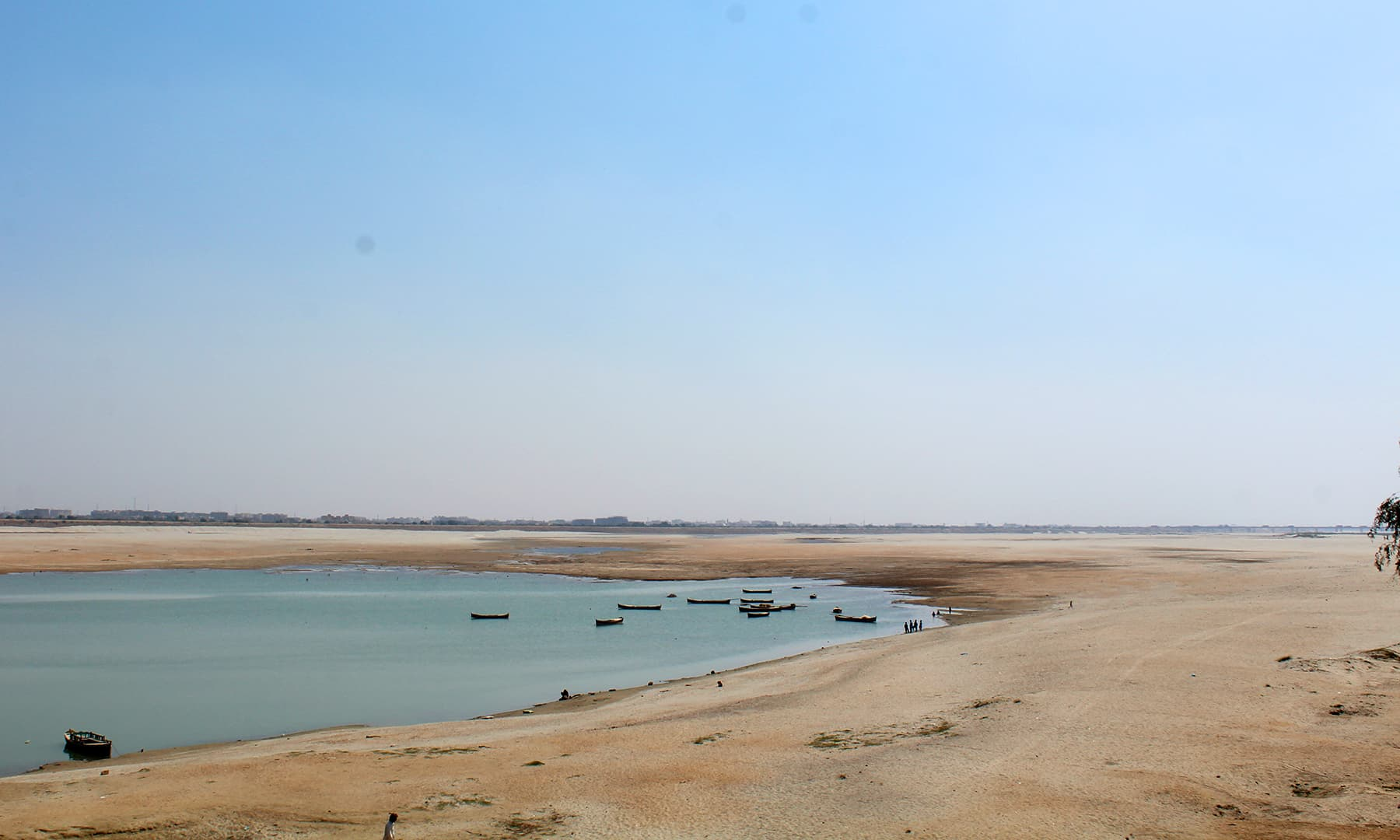 دریائے سندھ میں پانی کی کمی سے انڈس ڈیلٹا کو نقصان پہنچا ہے۔— فوٹو اختر حفیظ