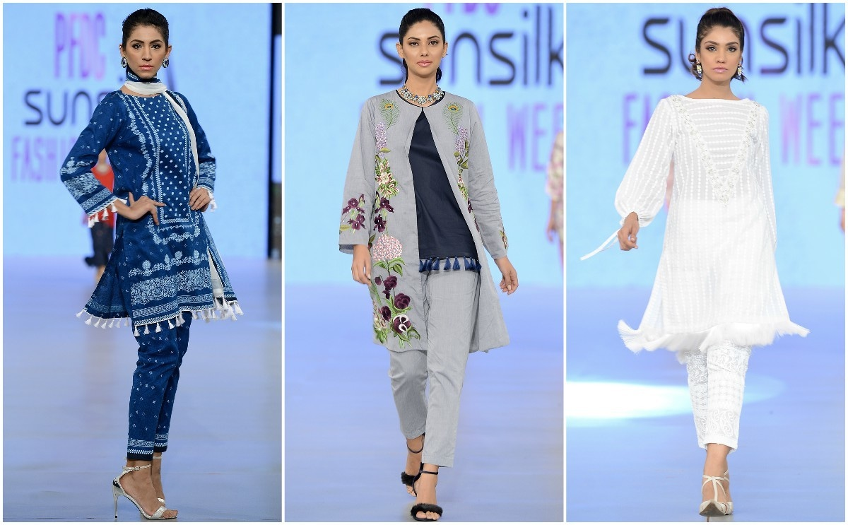 While Al-Karam showed mostly retail-appropriate pieces, the cape worn by Sunita Marhsall caught the eye