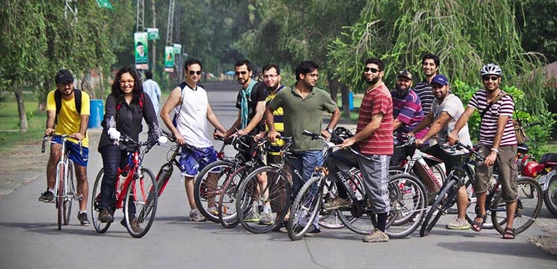 Cycling in Safari Park Lahore. —Photo provided by author