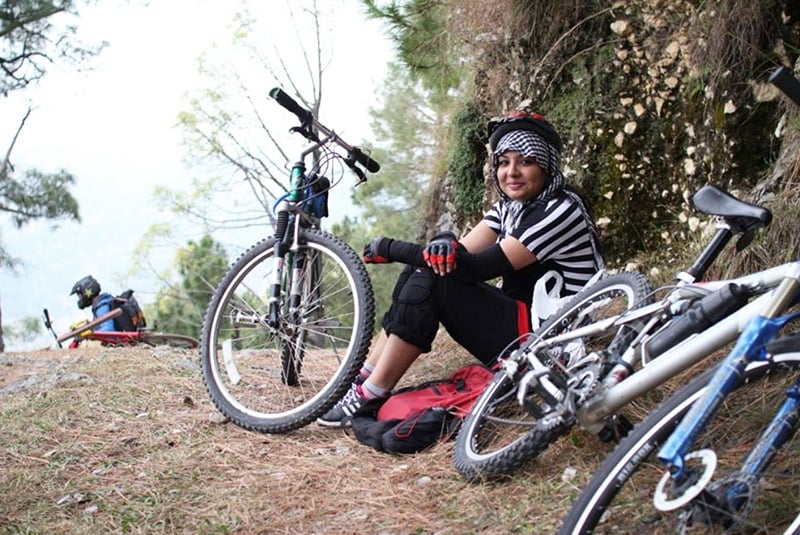 The author with her bike. —Photo provided by author