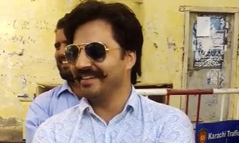 The campaigner was indicted in a case of wrongful restraint after attempting to dump garbage outside CM House.─ Photo: DawnNews