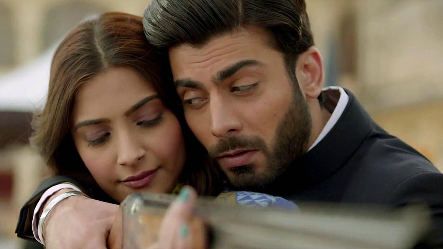 Fawad Khan and Sonam Kapoor in Khoobsurat (2014)