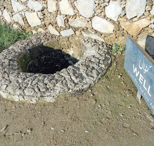 A preserved well, which was once the main source of water for Sirkap's residents.