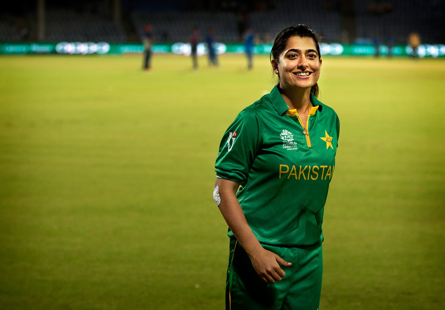 Sana Mir reacts after her team won against India by 2 runs Duckworth Lewis method. — AP