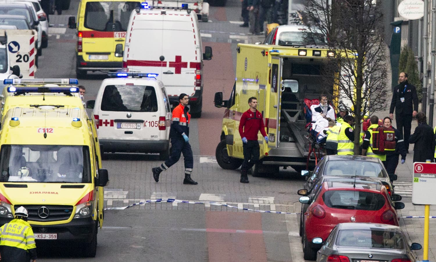 At least 34 dead as explosions rock Brussels airport, subway