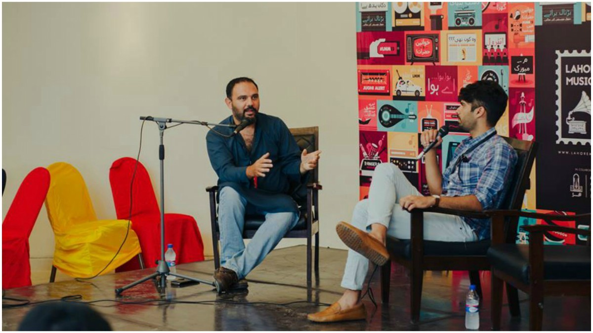 Jami and Adnan Malik discuss music videos at last year's Lahore Music Meet