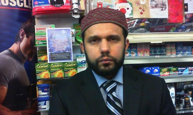 Asad Shah was killed Thursday night in Glasgow after apparently posting messages on Facebook calling for religious harmony.─ Photo: Facebook