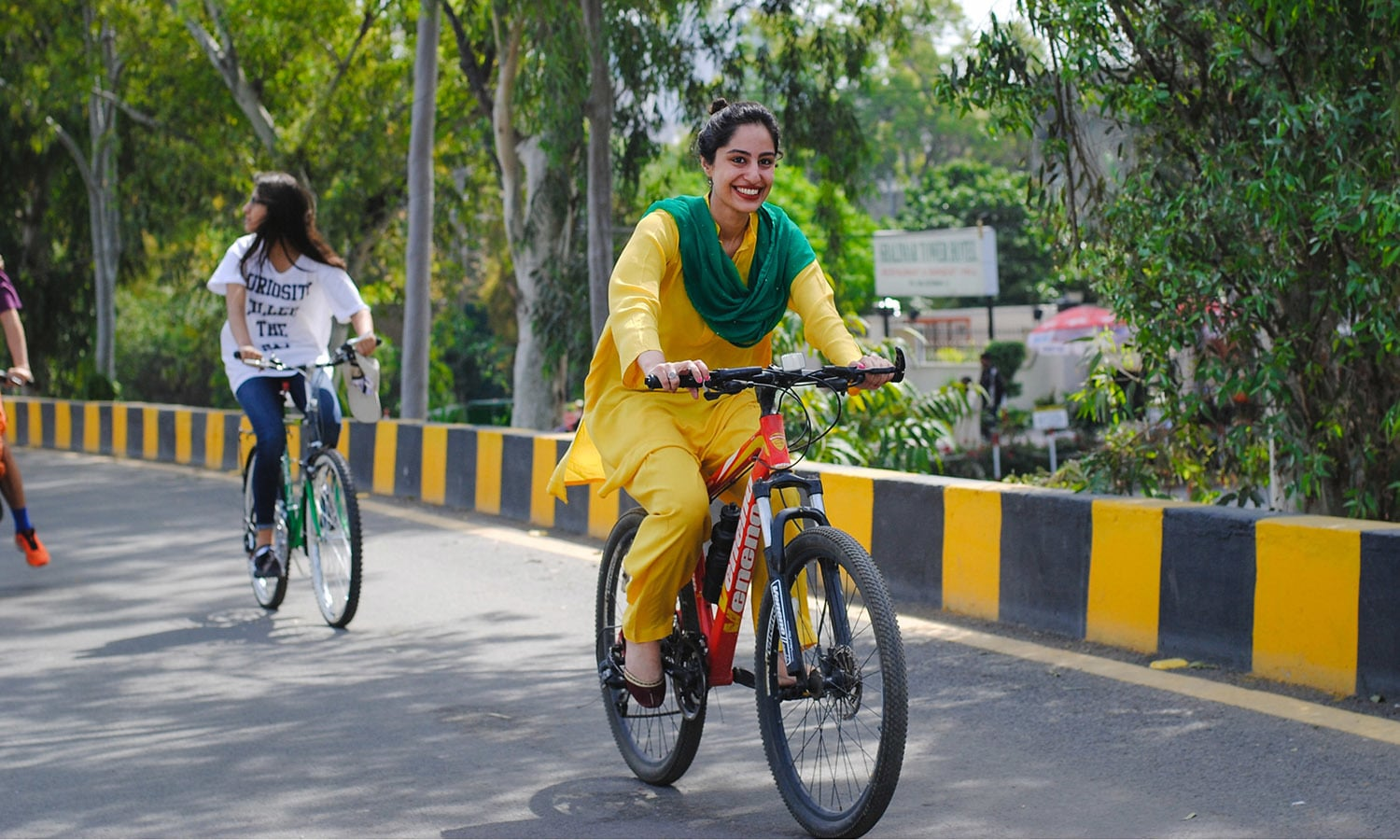 In pictures girls ride bikes in rally against harassment lahore for many of the girls this was their first time riding their cycles thecheapjerseys Gallery