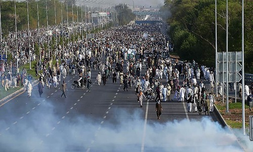 Who is leading the Islamabad sit-in?