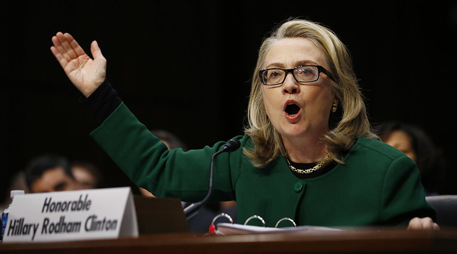 Secretary of State Hillary Clinton testifies on the Benghazi, Libya attack during a hearing held