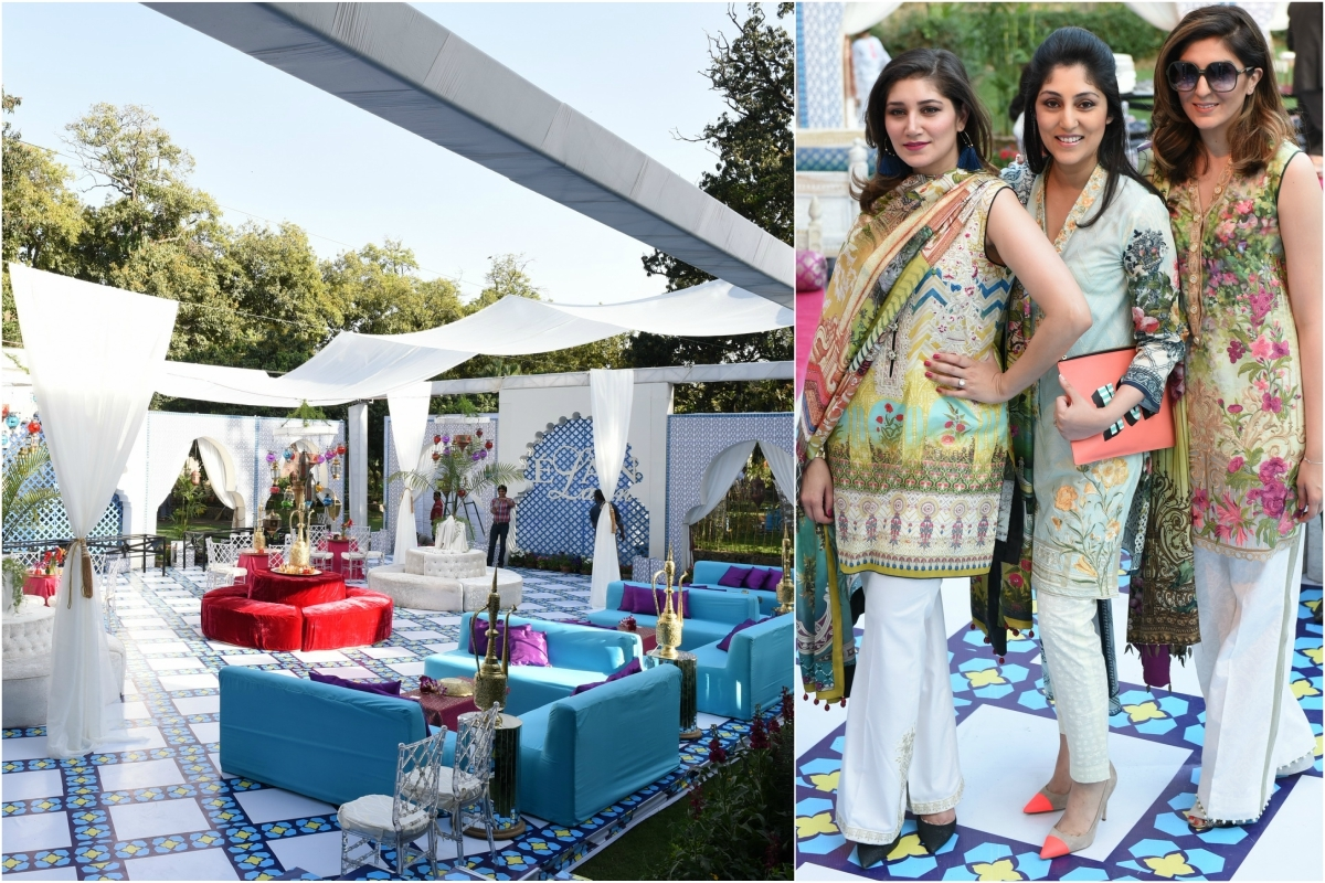 The decor at Elan's lawn event rivals the chicest weddings. And then there's the fashion. Photo: Elan