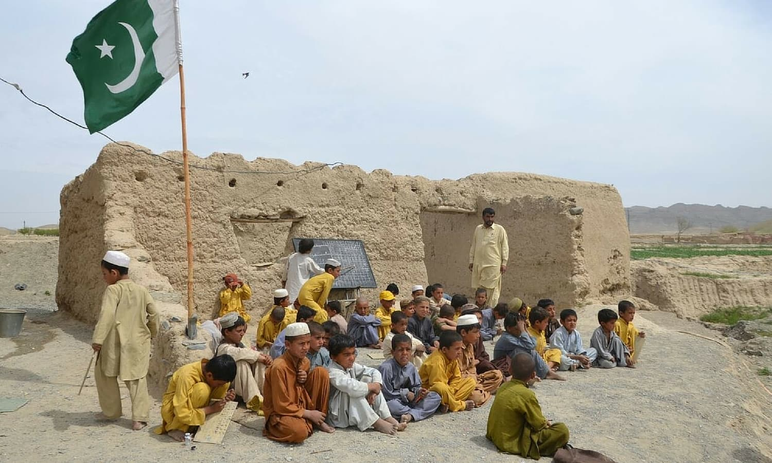 Located almost two kilometres east of the Quetta-Chaman national highway, Machka Killa Abdullah primary school was established in 2003 during Pervez Musharraf's regime for the children of the poor neighbourhood. -Photo by Asmatullah Khan
