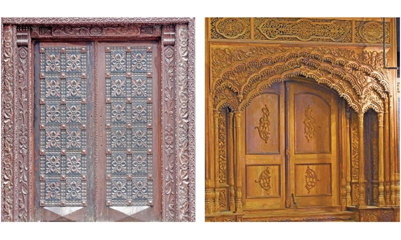 Rajhastani-style doors are still in demand. Such doors are still visible in the city's old houses.