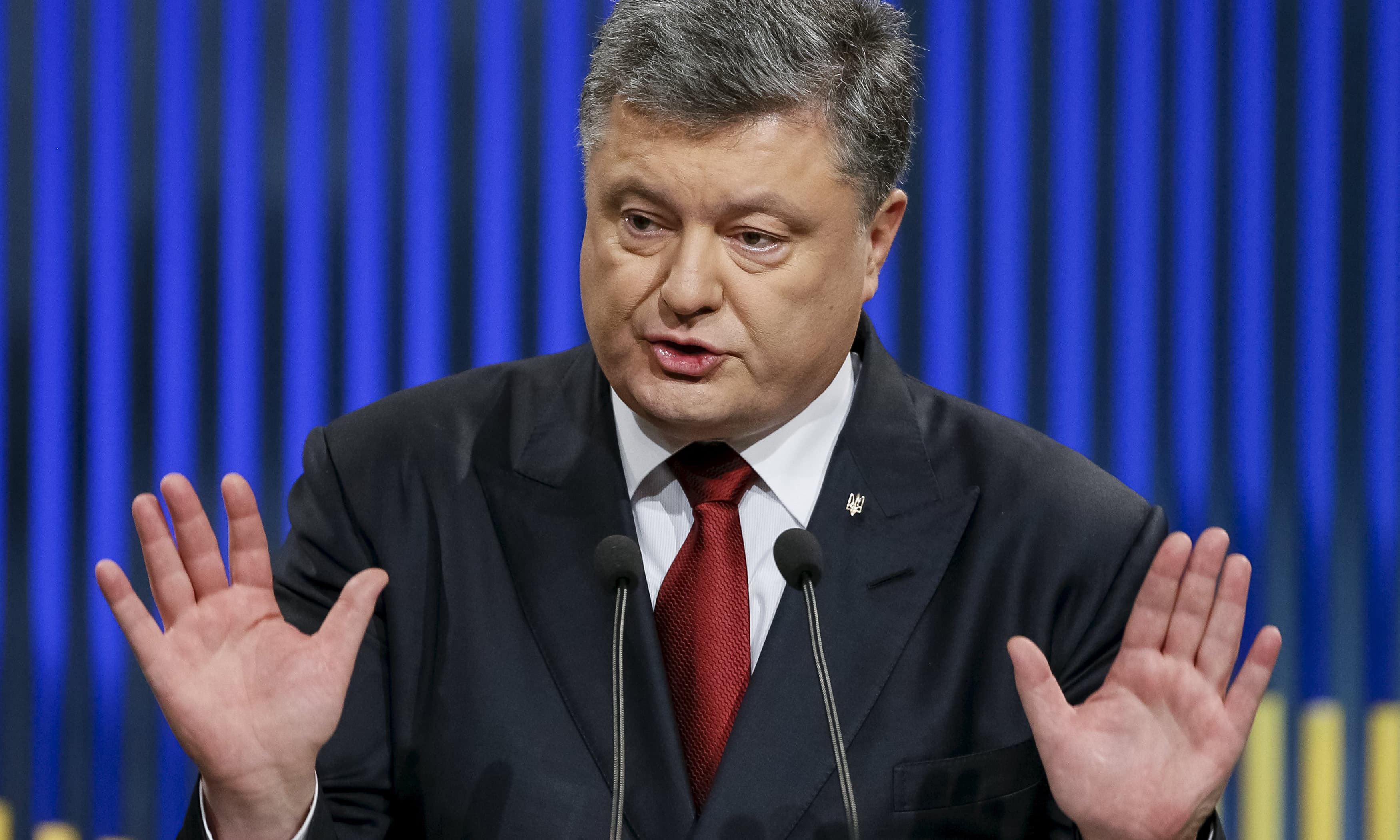 Poroshenko reportedly set up an offshore company to move his confectionery business. —Reuters