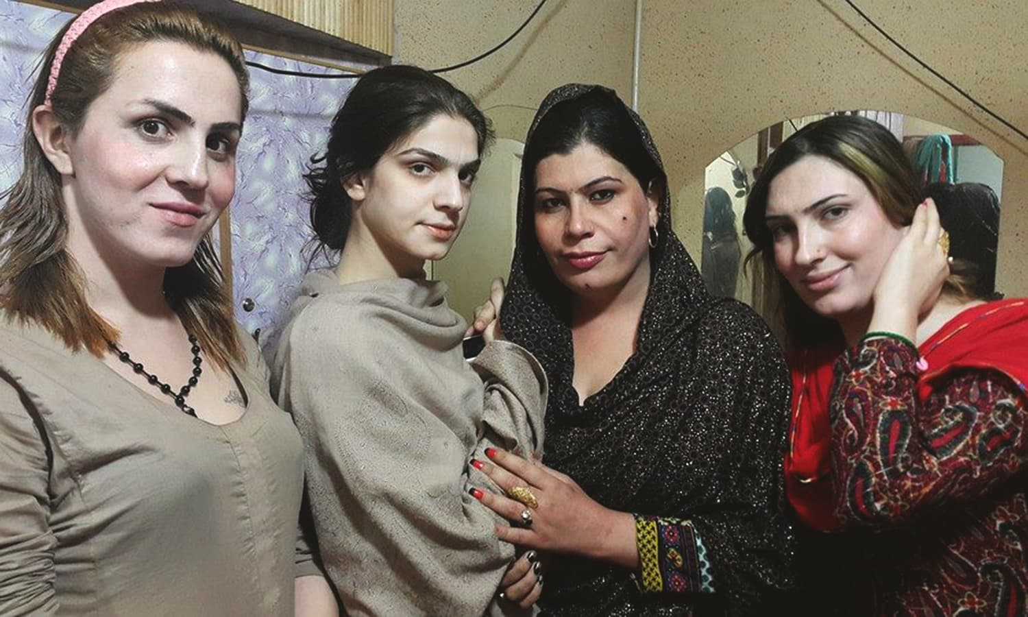 Transgender women pose for a photo. ─ Photo courtesy: Trans Action Khyber Pakhtunkhwa