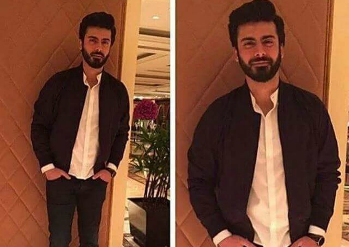 And as usual, Fawad arrived at the success party dressed to the nines in a casual bomber jacket over a white button down