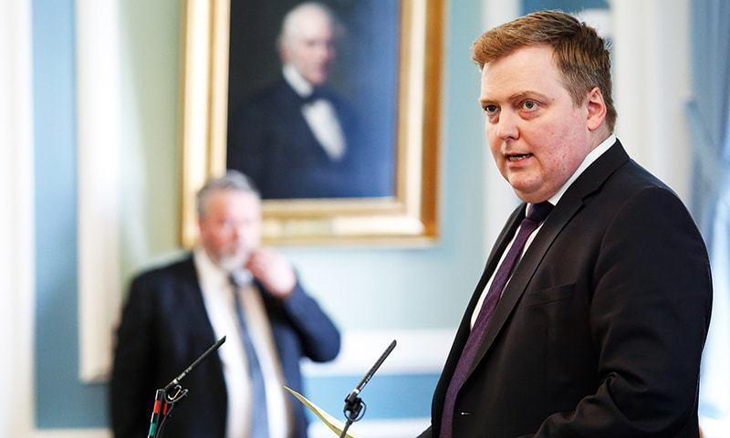 آئس لینڈ کے وزیراعظم — اے پی فائل فوٹو