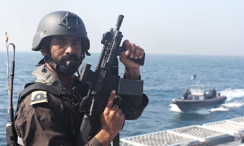 A Naval SSG commando.