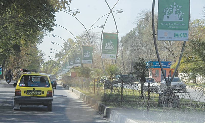 The spring plantation campaign is being advertised far and wide in Islamabad