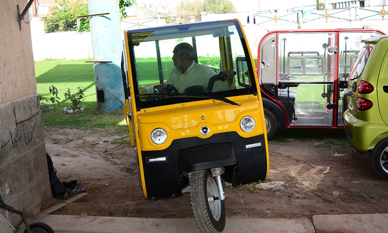 The new E-Rickshaws do not emit noise, smoke, or any hazardous gases. —Photo by the author