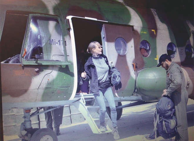 GILGIT: A foreign tourist rescued from Hunza after five days disembarking from an army helicopter here on Thursday.