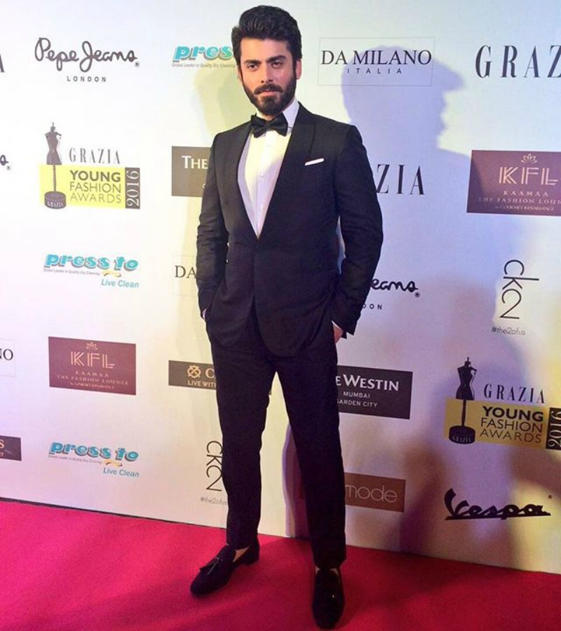 Fawad Khan on the red carpet of the Grazia Young Fashion Awards